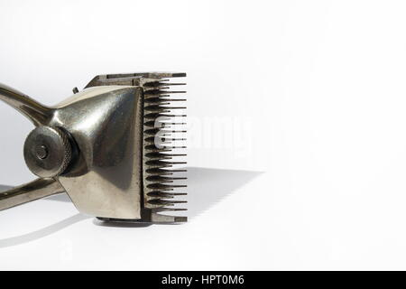 Vintage hair clippers isolated on white background - Stock Photo