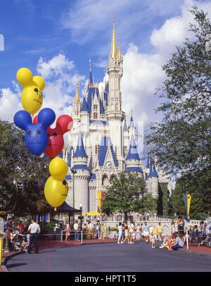 Cinderella's Castle, Magic Kingdom, Walt Disney World, Orlando, Florida, United States of America - Stock Photo