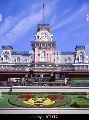 Magic Kingdom Railway Station entrance at Walt Disney World Resort, Orange County, Orlando, Florida, United States - Stock Photo