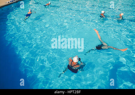 Sun City Aqua Suns practicing. Sun City, Arizona. - Stock Photo