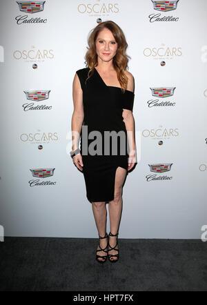 West Hollywood, California, USA. 23rd Feb, 2017. Tara Buck, at Cadillac celebrates Oscar Week 2017, at Chateau Marmont - Stock Photo