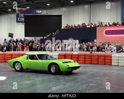 London, UK. 23rd Feb, 2017. London Classic Car show 2017. Lamborghini Mirua Credit: Martyn Goddard/Alamy Live News - Stock Photo