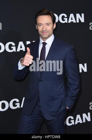 New York, NY, USA. 24th Feb, 2017. Hugh Jackman at arrivals for LOGAN Premiere, Jazz at Lincoln Center's Frederick - Stock Photo