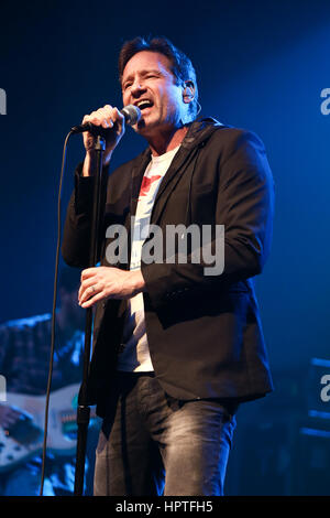 New York, USA. 23rd Feb, 2017. David Duchovny performs in concert at the Paramount on February 23, 2017 in Huntington, - Stock Photo