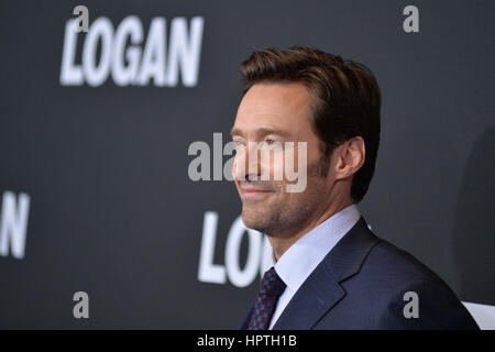 New York, USA. 24 Feb 2017. Hugh Jackman attends the 'Logan' New York special screening at Rose Theater, Jazz at - Stock Photo
