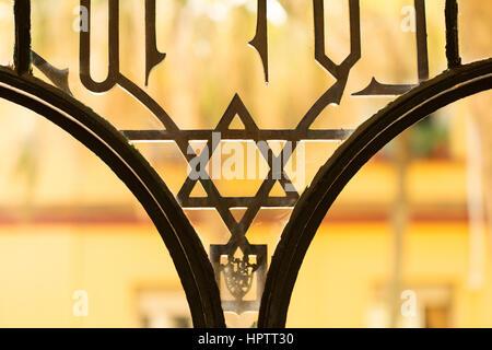 jewish star symbol in architecture - Stock Photo