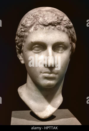 Portrait of Cleopatra VII, 40-30 BC, ( Cleopatra VII Philopator 69 - 30 BC known to history simply as Cleopatra, - Stock Photo