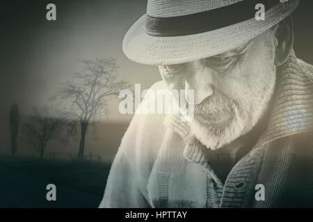 Old senior man - Stock Photo
