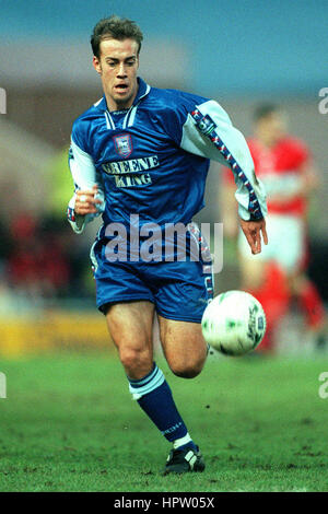 JAMIE CLAPHAM IPSWICH TOWN FC 26 January 1998 - Stock Photo