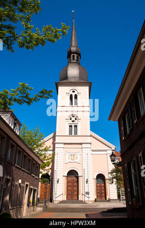 Europe, Germany, Essen-Kettwig, church St. Peter at the Ruhrstreet, built with the collaboration of Karl Friedrich - Stock Photo