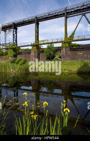 Europe, Germany, Duisburg, the renaturated river Emscher at the Duisburg-Nord Country Park. - Stock Photo