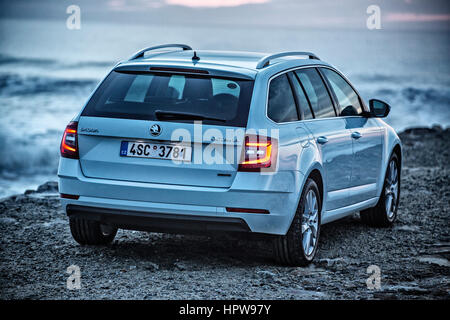 SKODA OCTAVIA III, facelift 2017 - Stock Photo
