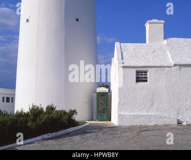 Gibb's Hill Lighthouse and tearooms, Southampton Parish, Bermuda - Stock Photo