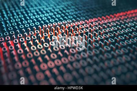 Binary code, illustration. - Stock Photo