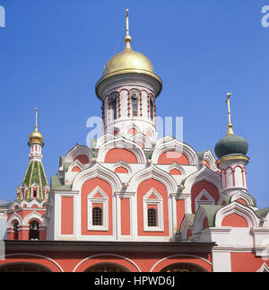 The Kazan Cathedral, Red Square, Moscow, Central District, Russia - Stock Photo