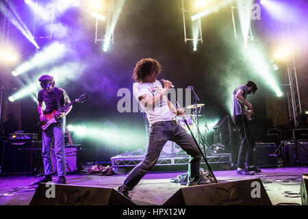 Fat White Family - Fat Whites Performing Live At Liverpool Sound City Festival May 2015 - Photo Credit: Michelle - Stock Photo