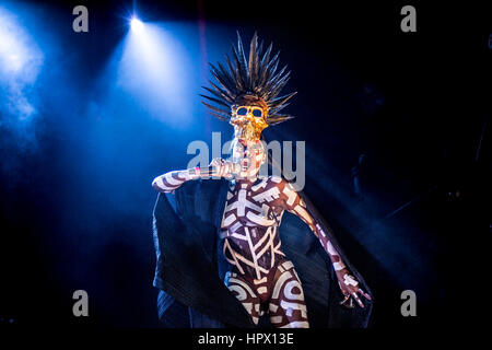 Grace Jones Performing Live At Festival No6 In Portmeirion Wales September 2015 - Photo Credit: Michelle Roberts - Stock Photo