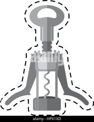 cartoon cork screw winery tool - Stock Photo