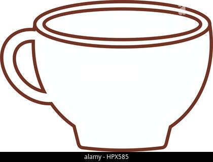 cup coffee porcelain line - Stock Photo
