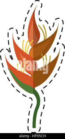 cartoon heliconia tropical natural - Stock Photo