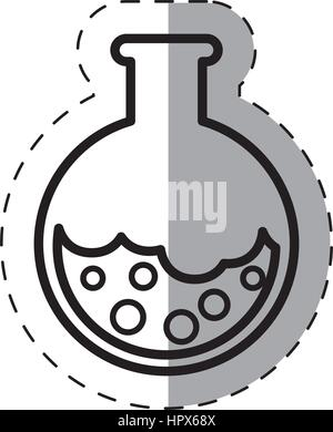school test tube laboratory thin line - Stock Photo