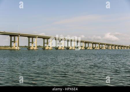 Caloosahatchee Bridge in Fort Myers, Florida. USA - Stock Photo