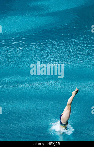 Rio de Janeiro, Brazil. 14 August 2016 Maddison Keeney (AUS) competes in the Diving Springboard 3m final at the - Stock Photo