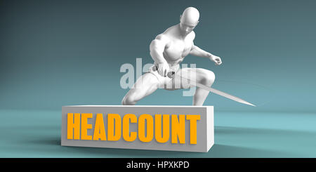 Cutting Headcount and Cut or Reduce Concept - Stock Photo