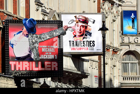 London, England, UK. Tom Stoppard's 'Travesties' at the Apollo Theatre, Shaftesbury Avenue, Feb 2017 - Stock Photo