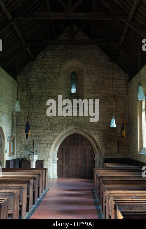 St. Peter`s Church, Stanway, Gloucestershire, England, UK - Stock Photo