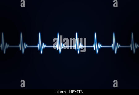 medicine illustration of heart human heart pulse - Stock Photo