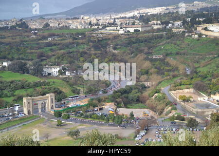 panoramic view of old medina of fez the