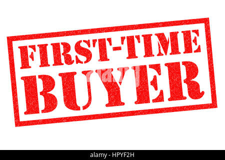 FIRST-TIME BUYER red Rubber Stamp over a white background. - Stock Photo
