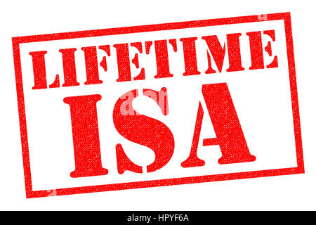 LIFETIME ISA red Rubber Stamp over a white background. - Stock Photo