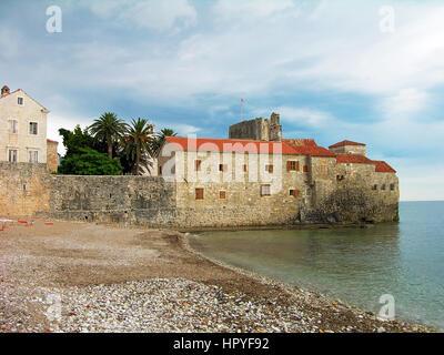 Walls of Budva old town, Montenegro - Stock Photo