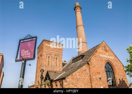 The Pumphouse at the Albert Dock, a complex of dock buildings and warehouses in Liverpool, England. Designed by - Stock Photo