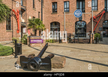 The Beatles Story is a unique visitor attraction located within Liverpool's historic Albert Dock. - Stock Photo