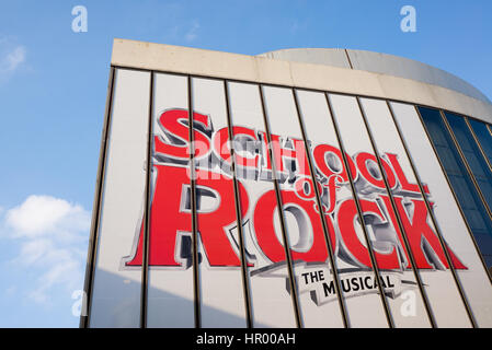 The New London Theatre during production for 'School of Rock The Musical' the hit Broadway musical from Andrew Lloyd - Stock Photo