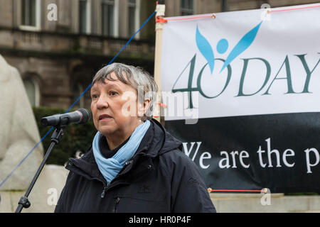 Glasgow, Scotland, UK. 25th Feb, 2017. '40 Days for Life', a Christian Pro-Life and anti abortion group held a prayer - Stock Photo