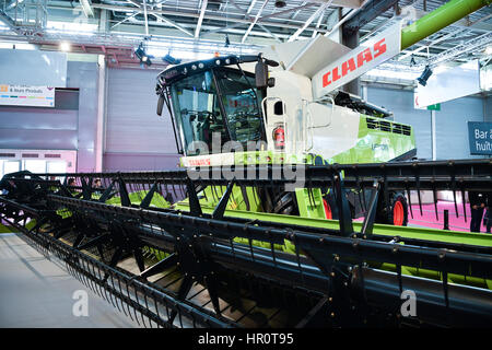 Paris, France. 25th Feb, 2017. Reaping machine is seen at the 2017 Paris International Agriculture Show in Paris, - Stock Photo