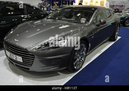 An Aston Martin Bertone Jet 2+2 on display at the London Classic Car Show which is taking place at ExCel London. - Stock Photo