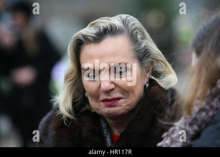 Gdansk, Poland. 26th February 2017. Anna Maria Anders (C) is seen on 26 February 2017  at Garrison Cemetery in Gdansk, - Stock Photo