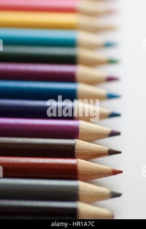 Shallow focus of colored pencils - Stock Photo