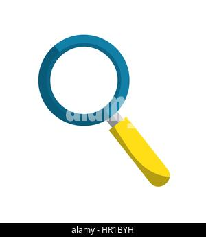 search magnifying glass icon - Stock Photo