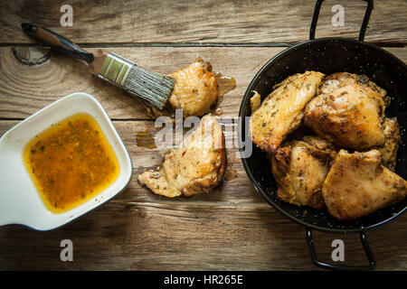 Chicken with chili oil - Stock Photo