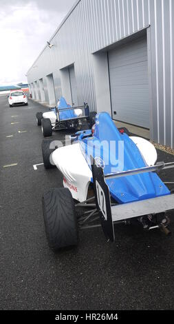 Silverstone Formula Ford Track Day Rain - Stock Photo