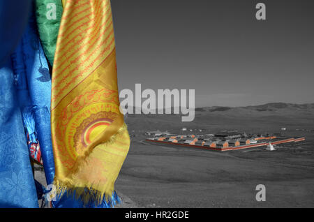 The Amarbayansgalant monastery in northern Mongolia - Stock Photo