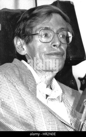 Professor Stephen Hawking, British Theoretical Physicist, attends a press conference in London, England on July - Stock Photo