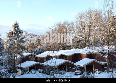 Snow covered roof tops, Vancouver - Stock Photo