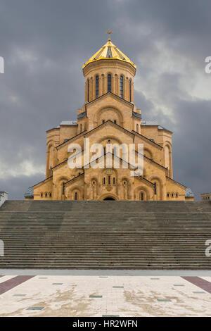 Holy Trinity Cathedral, Tbilisi, Georgia, Caucasus, Middle East, Asia - Stock Photo